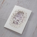 Purple Laser Cut Forest 3D Pocket - Wedding invitation - 59