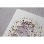 Purple Laser Cut Forest 3D Pocket - Wedding invitation - 61