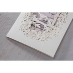 Purple Laser Cut Forest 3D Pocket - Wedding invitation - 62