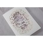 Purple Laser Cut Forest 3D Pocket - Wedding invitation - 63