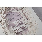 Purple Laser Cut Forest 3D Pocket - Wedding invitation - 64