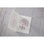 Purple Laser Cut Forest 3D Pocket - Wedding invitation - 65
