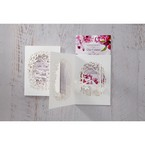 Purple Laser Cut Forest 3D Pocket - Wedding invitation - 67