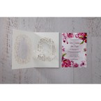 Purple Laser Cut Forest 3D Pocket - Wedding invitation - 68