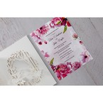 Purple Laser Cut Forest 3D Pocket - Wedding invitation - 69