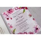Purple Laser Cut Forest 3D Pocket - Wedding invitation - 70