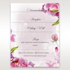 Purple Laser Cut Forest 3D Pocket - Wedding invitation