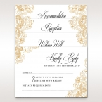 Vintage themed golden borders on a matte white set of matching stationeries