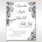 Classic white card with black coloured calligraphic writing and border design