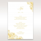 Imperial Glamour with Foil menu card DM116022-WH