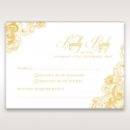 Imperial Glamour with Foil rsvp card DV116022-WH