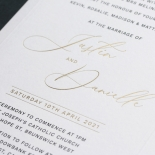 Embossed Border with Print and Foil - Wedding Invitations - KI300-GG-EM-BL-03 - 184852