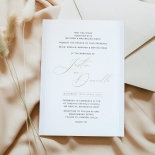 Embossed Border with Print and Foil - Wedding Invitations - KI300-GG-EM-BL-03 - 184827