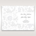 Silver/Gray Enchanted Floral Pocket III - Order of Service - Wedding Stationery - 40