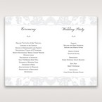 Silver/Gray Enchanted Floral Pocket III - Order of Service - Wedding Stationery - 41
