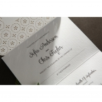Laser Cut Button wedding invitations HB15102_11