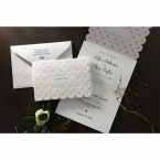 Laser Cut Button wedding invitations HB15102_12
