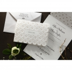 Laser Cut Button wedding invitations HB15102_13