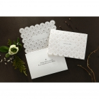 Laser Cut Button wedding invitations HB15102_9
