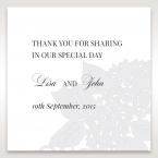Laser Cut Floral Wedding gift tag DF15086
