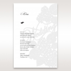 Laser Cut Floral Wedding menu card DM15086
