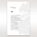 Laser Cut Floral Wedding order of service DG15086