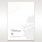 Laser Cut Floral Wedding thank you card DY15086