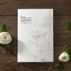 Laser Cut Floral Wedding wedding invitations HB15086