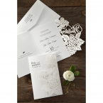 Laser Cut Floral Wedding wedding invitations HB15086_15