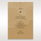 Yellow/Gold Tri-Fold Laser Cut Gold - Menu Cards - Wedding Stationery - 2