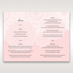 Pink Tri-Fold Laser Cut - Menu Cards - Wedding Stationery - 76