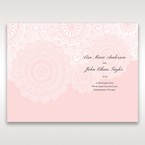 Pink Tri-Fold Laser Cut - Menu Cards - Wedding Stationery - 77