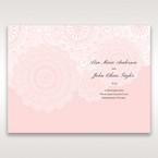 Pink Tri-Fold Laser Cut - Menu Cards - Wedding Stationery - 77