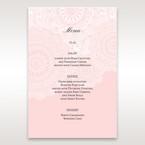 Pink Tri-Fold Laser Cut - Menu Cards - Wedding Stationery - 58