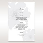 Silver/Gray Twinkling Rose - Menu Cards - Wedding Stationery - 4