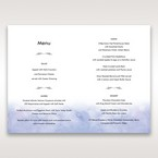 Purple Lasercut pocket with Love Birds - Menu Cards - Wedding Stationery - 75