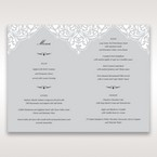 Silver/Gray Jeweled Romance Laser Cut - Menu Cards - Wedding Stationery - 83