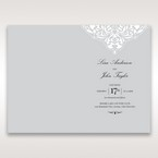 Silver/Gray Jeweled Romance Laser Cut - Menu Cards - Wedding Stationery - 84