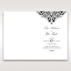 White Jeweled Romance Black Laser Cut - Menu Cards - Wedding Stationery - 96