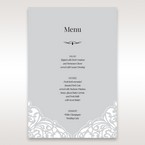Silver/Gray Jeweled White Lasercut Pocket - Menu Cards - Wedding Stationery - 74