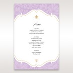 Purple Gold Foiled Floral Laser Cut - Menu Cards - Wedding Stationery - 82