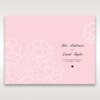 Pink Floral Laser Cut with Embossing - Menu Cards - Wedding Stationery - 40