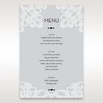 Silver/Gray Elagant Laser Cut Wrap - Menu Cards - Wedding Stationery - 98