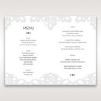 Silver/Gray Elagant Laser Cut Wrap - Menu Cards - Wedding Stationery - 47