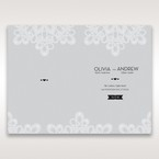 Silver/Gray Elagant Laser Cut Wrap - Menu Cards - Wedding Stationery - 48