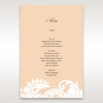Beige White Laser Cut Wrap with Ribbon - Menu Cards - Wedding Stationery - 3
