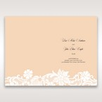 Beige White Laser Cut Wrap with Ribbon - Menu Cards - Wedding Stationery - 58