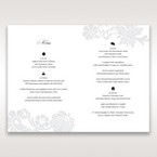 White Black Laser Cut Wrap with Ribbon - Menu Cards - Wedding Stationery - 65