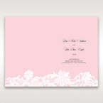 Pink Laser Cut Floral Half Pocket  - Menu Cards - Wedding Stationery - 74