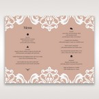 White Elegant Laser Cut Half Pocket with a Bow - Menu Cards - Wedding Stationery - 93